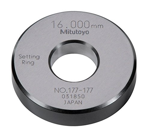 Mitutoyo 177-177 Setting Ring, 16mm Size, 10mm Width, 45mm Outside Diameter, +/-1.5Micrometer Accuracy