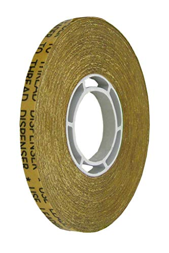 ALLTAPESDEPOT ATG TRANSFER GUN DOUBLE SIDE REFILL TAPES, REVERSE WOUND ADHESIVE TRANSFER TAPE ACID FREE GOLD PAPER LINER ATG-7502, 1/2