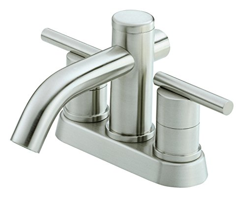 (Danze D301158BN Parma Two Handle Centerset Lavatory Faucet, Brushed Nickel)