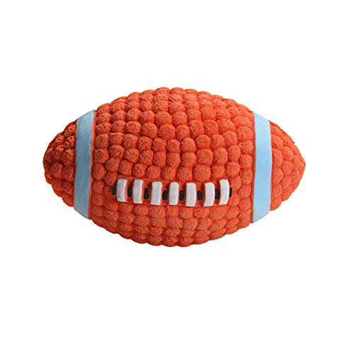 Daixers Dog Squeaky Toys Ball Bouncing Latex Fetch Throw Rugby Football for Pet Toy