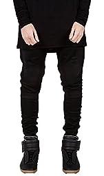 Mens Fashion Skinny Runway Distressed Slim Denim Biker Jeans Hiphop Pants 36