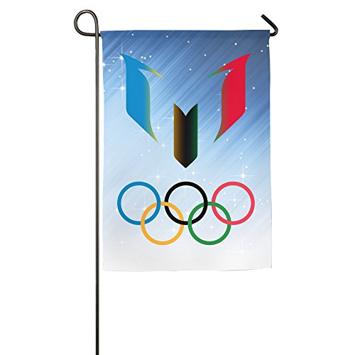 [Rio 2016 Olympic FCB Leo Messi Logo Garden Flag] (Leo Johnson Costume)