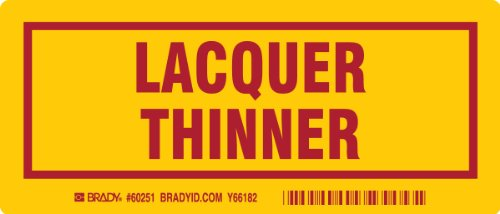 brady-60251-container-label-3-height-x-7-width-red-on-yellow-legend-lacquer-thinner-25-per-package