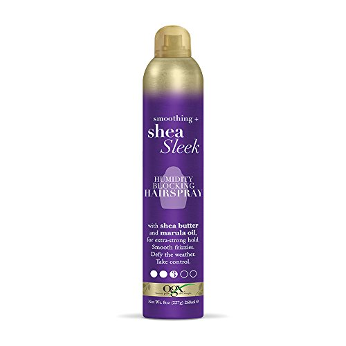 OGX Smoothing + Shea Sleek Humidity Blocking Hairspray 8 Oun