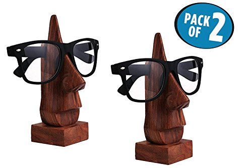 Wooden Combo Spectacle Holder, Eyeware Retainer Holder, Sunglasses Stand, Goggles Holder,, Easter Day / Mothers Day / Good Friday - Sunglasses India Best