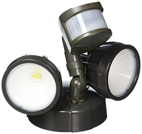 All Pro Outdoor Security MST18R17L LED Twin Head Motion Security Light, 1600 lm, Bronze by All Pro Outdoor Security