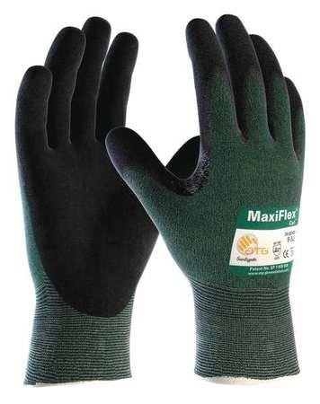 Cut Resistant Gloves, Green, L, PR (72 pieces)