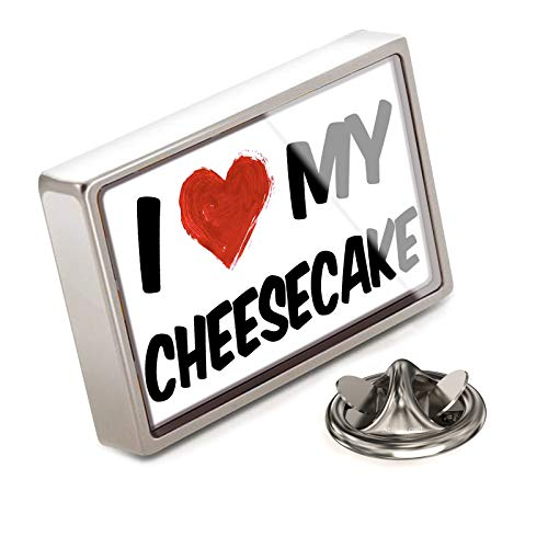 NEONBLOND Lapel Pin I Love My Cheesecake