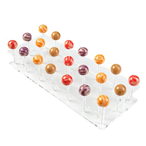 Baby Shower Cake Pops (NIUBEE Lollipop Display Stand, Clear Acrylic Cake Pop Holder for Baby Shower on Candy Table - 21)
