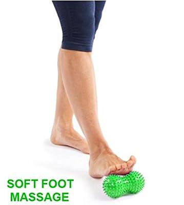 REFLEXOLOGY FOOT MASSAGER BALL: Chinese peanut shape manual massage roller acupressure tools & equipment for foot, neck, calf, leg, hands & back.