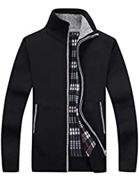 Men's Classic Full Zip Knitted Cardigan Sweaters