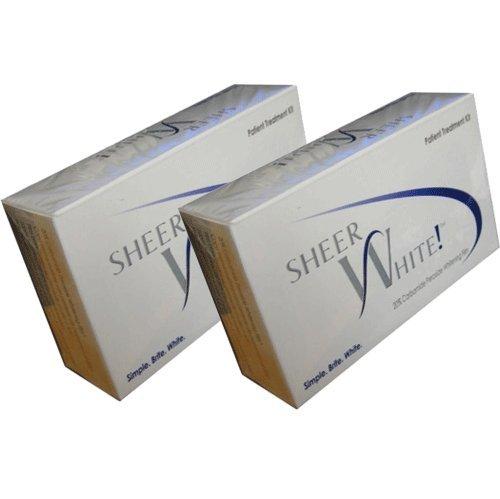 Sheer White Teeth Whitening Strips (Double Pack) (Double Pack) by Sheer White!