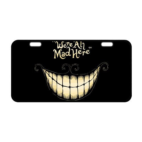 Alice in wonderland Cheshire cat Personalized Novelty Front Metal License Plate Car - License Cat Cheshire Plate