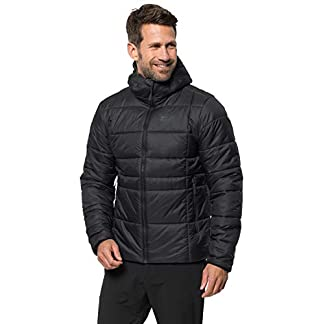 Jack Wolfskin Herren Argon THERMIC Jacket M Winddichte Winterjacke, Black, L 10