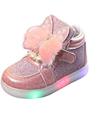 Led-lichtgevende konijntjes voor kinderen, met led-verlichting, gymschoenen, turnschoenen, kinderen, meisjes, cartoon, konijn, harige ledverlichting, schoenen, verlichting, schoenen, sportschoenen, vrijetijdsschoenen, feestschoenen, sneakers