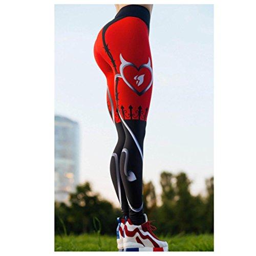 Oksale Womens Mid Waist Sports Gym Yoga Workout Running Pants Fitness Leggings