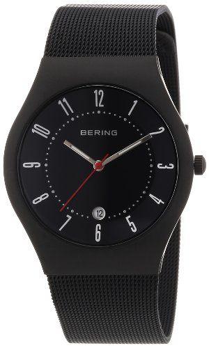 BERING Time 11937-223 Men's Classic Collection Watch with Mesh Band and scratch resistant sapphire crystal. Designed in Denmark.