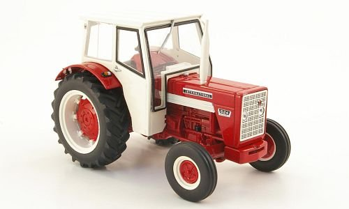 International Harvester 624, rot/weiss, mit Kabine, Modellauto, Fertigmodell, Replicagri 1:32