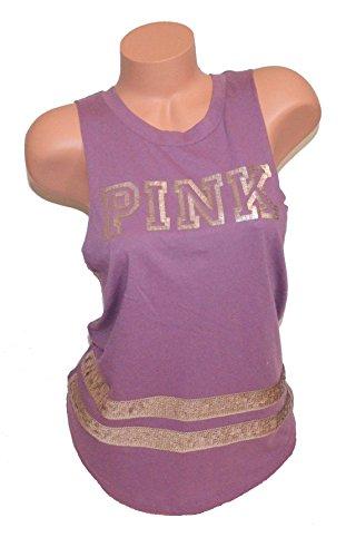 Victoria's Secret Pink Rose Gold Bling Sequin Tank Top Mauve - XS