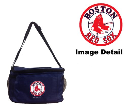 (Boston Red Sox MLB Team Logo 6-Sports Drink Beer Water Soda Beverage Can Insulated Picnic Outdoor Party Beach BBQ Kooler Cooler Lunch Bag Tote - 6-Pack Bag)