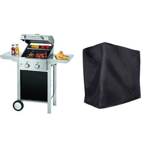 ProfiCook PC-GG 1128 Gasgrill 2 Edelstahlbrenner Edelstahlfront und -haube klappbare Seitentische - Ultranatura Barbecue Grill Hülle Chateau