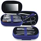 GoodBZ 13-in-1 Stainless Steel Personal Manicure & Pedicure Set, Travel & Grooming Kit