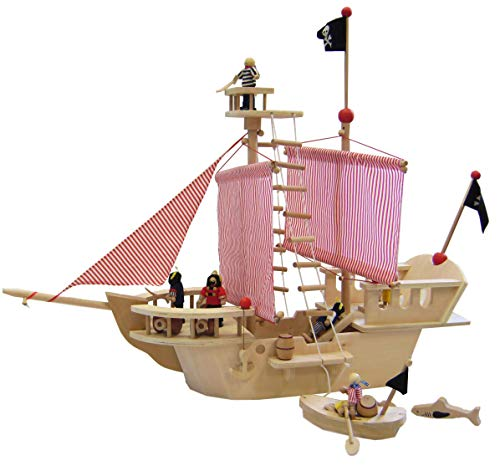 Large Pirate Ship made of Plywood incl. lots of accessories