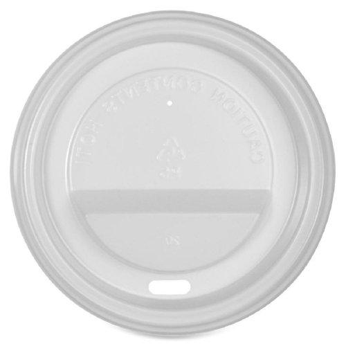 Genuine Joe GJO11259CT Polystyrene Protective Hot Cup Lid, White (Carton of -