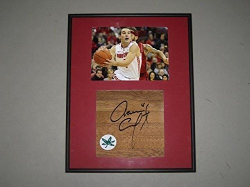Aaron Craft Ohio State Buckeyes Signed Framed Basketball 6X6 Floorboard PROOF - Autographed College Floorboards (Ohio State Framed Basketball)
