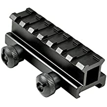 SNIPER® See Through Scope Riser Mount; 7 Picatinny Slots; Black Anodize