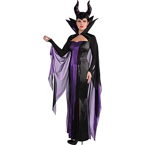 SUIT YOURSELF Sleeping Beauty Maleficent Costume Couture for Women, Size Large, Includes a Dress, a Headpiece, and Cape -