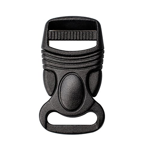 (Side Release Buckles Clips Adjustable Plastic Buckles 5/8, 4/5, 1, 1-1/4,1-1/2 Inch Buckle for Belt Strap Webbing Backpack (5/8 inch, 4 PCS))