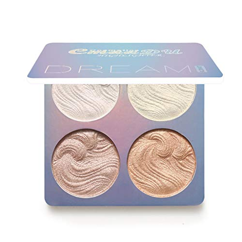 IslandseProfessional New Makeup Face Powder 4 Colors Bronzer Highlighter Powder Palette -