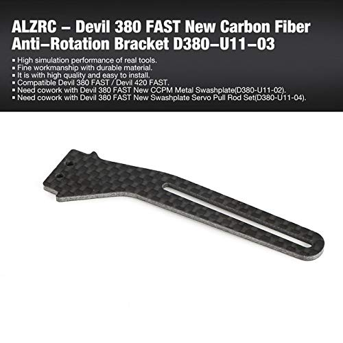 ALZRC Devil 380 420 FAST RC Helicopter Parts New Swashplate Servo Pull Rod Set