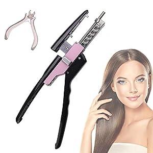 JSBVM 6D Hair Extensions Tool 5 Connector Fusion Heat Iron Connector Hair Machine Connector Keratin Hair Professional…