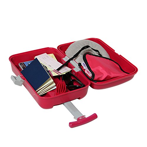 8d56ca35c6 Doll Travel Suitcase with Open and Close Carry on Luggage, Ticket, Passport  and 12