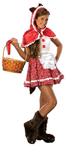 UHC Girl's Red Riding Hood Little Fairy Tale Fancy Dress Tween Halloween Costume, Tween M (2-4)