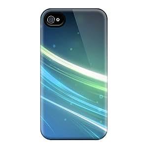 Impresionante Carcasas/iPhone 6 Defender casos (líneas azules) cubiertas