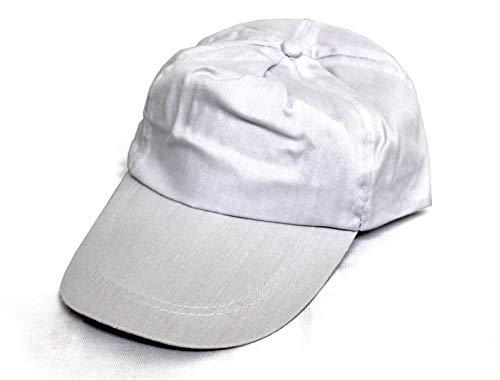 Dye Sublimation Coating - SFS 3 Pcs. Cap White Polyester Sublimation Heat Transfer Adjustable HAT Blank Plain