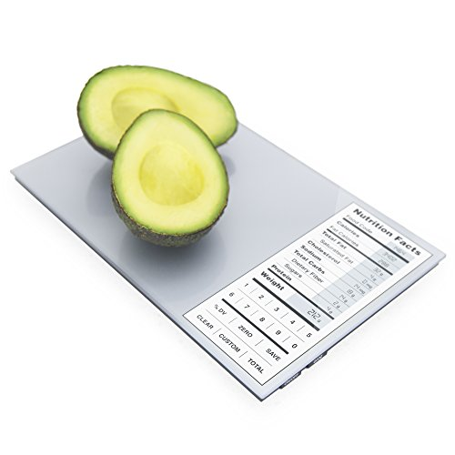 perfect-portions-digital-scale-nutrition-facts-display-silver