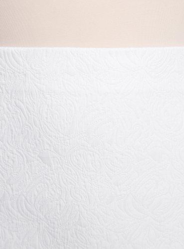1200n Femme Jupe Courte Trapze oodji Ultra Blanc E5xAqHE6Yw