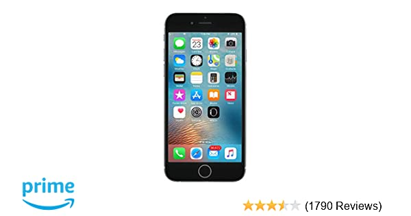 online store b8a34 bbd36 Apple iPhone 6S, GSM Unlocked, 64GB - Space Grey (Renewed)