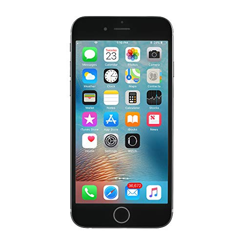 Apple iPhone 6S, Fully Unlocked, 16GB - Space Gray (Renewed) ()
