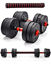 INNE Halterset + 20 kg halters 2 x 10 kg halters. Verschillende trainingsmogelijkheden, veel spiergroepen trainen voor krachttraining
