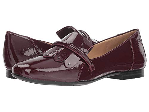 Naturalizer Womens Ellis Leather Square Toe Oxfords, Huckleberry Pat, Size 5.0