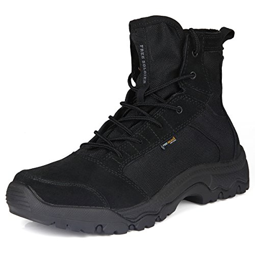 FREE SOLDIER Outdoor Men Storm Ultralight Tactical Boots Breathable Durable Lightweight Shoes (Black, (Womens Ultra Desert Boot)