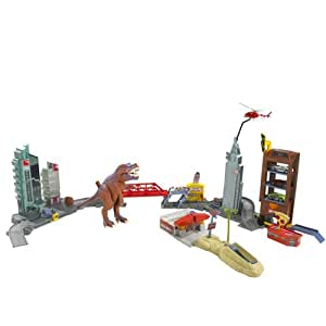 hot wheels t rex rampage play set toys games. Black Bedroom Furniture Sets. Home Design Ideas