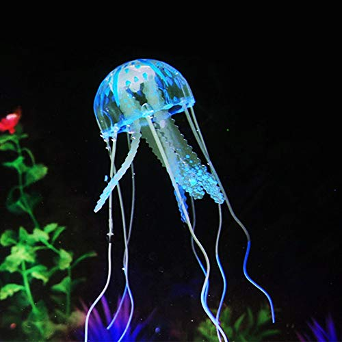 (Decorations - Aquarium Ornaments Fish Tank Decoration Landscaping Ornament Fluorescent Simulation Jellyfish Ornament Pet Decor - by GTIN - 1 PCs)