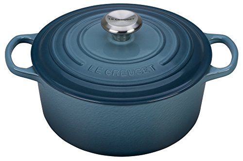 Le Creuset Signature Enameled Cast-Iron 4-1/2-Quart Round French (Dutch) Oven, Marine by Le Creuset