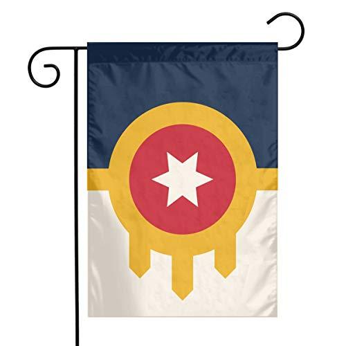 QG ZZX Garden Flag Tulsa Flag Outdoor Seasonal Garden Flag for Decoration Christmas Fall Halloween Thanksgiving 12 X 18 Inch -